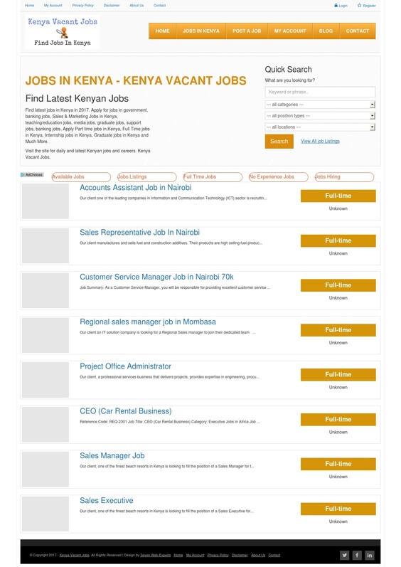 kenya vacant jobs